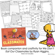 Load image into Gallery viewer, Don't Eat Our Classmates Book Companion [ Craft, Writing, and Visual Recipe! ]