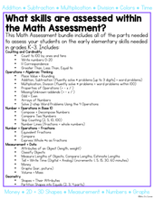 Load image into Gallery viewer, Math Assessment for K-3 Basic Skills (for Special Education)