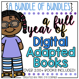 Bundle of Monthly Digital Adapted Books [Level 1 + Level 2] | Distance Learning