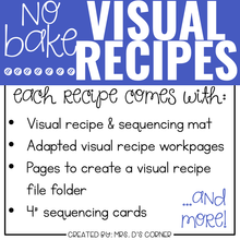 Load image into Gallery viewer, January Visual Recipes with REAL Pictures for Cooking in the Classroom