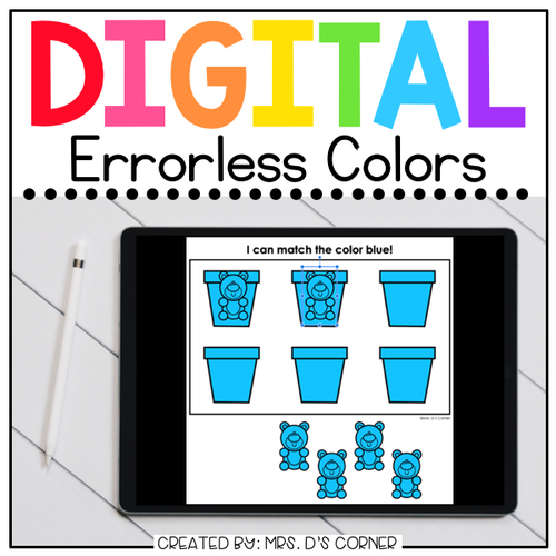 Colors Digital Errorless Learning Activity | Distance Learning