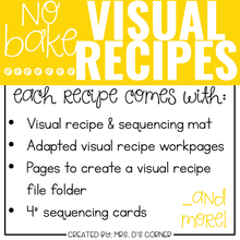 Load image into Gallery viewer, YEAR BUNDLE Visual Recipes with REAL pictures - Cooking in the Classroom