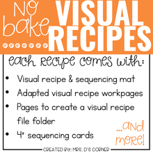 Load image into Gallery viewer, June Visual Recipes with REAL Pictures for Cooking in the Classroom