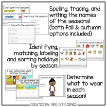 Load image into Gallery viewer, Seasons Adapted Work Binder®