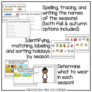 Seasons Adapted Work Binder®