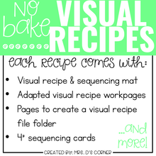Load image into Gallery viewer, March Visual Recipes with REAL Pictures for Cooking in the Classroom