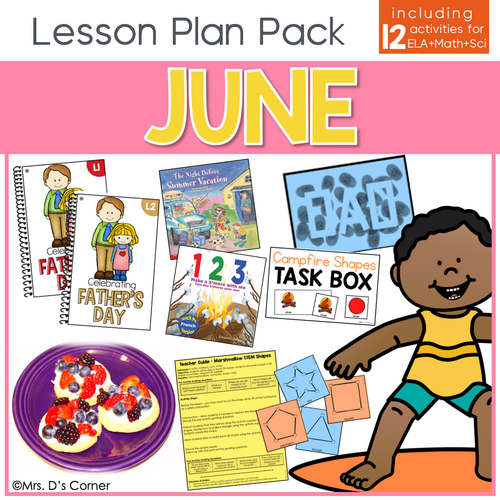 June Lesson Plan Pack | 12 Activities for Math, ELA, + Science
