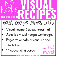 Load image into Gallery viewer, May Visual Recipes with REAL Pictures | Cooking in the Classroom