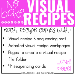 May Visual Recipes with REAL Pictures | Cooking in the Classroom