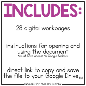 DIGITAL Adapted Work Binder ( Numbers 1-10 )