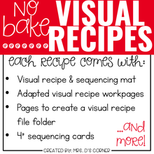 Load image into Gallery viewer, September Visual Recipes with REAL Pictures for Cooking in the Classroom
