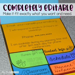 Editable Parent Handbook | Dual Tab Flip Book