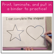 Load image into Gallery viewer, Fine Motor Skills Practice (Shapes) | Distance Learning