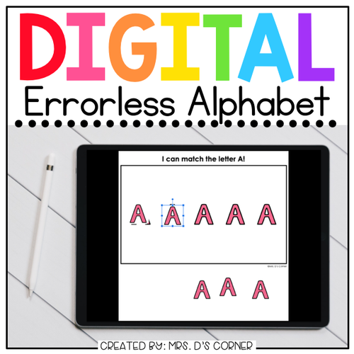Digital Errorless Alphabet Letters Learning Activity | Distance Learning