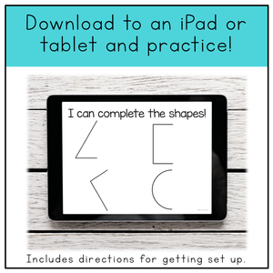 Fine Motor Skills Practice (Shapes) | Distance Learning