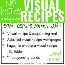 Load image into Gallery viewer, October Visual Recipes with REAL Pictures for Cooking in the Classroom