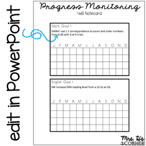 FREE Progress Monitoring for IEPs and RTI | Data Rings for Special Ed