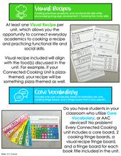 Load image into Gallery viewer, Connected Cooking Veggies Unit 2 | Interactive Read Aloud, Visual Recipe + More!