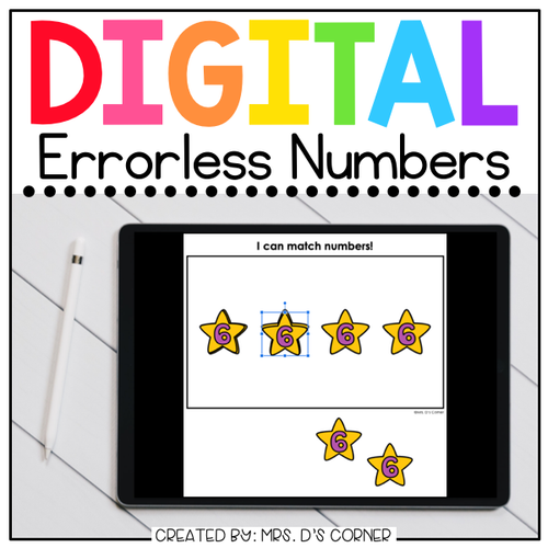 Numbers 0-25 Digital Errorless Learning Activity | Distance Learning