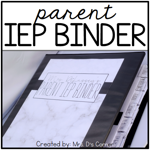 Parent IEP Binder | Editable (Black and White) IEP Companion for Parents