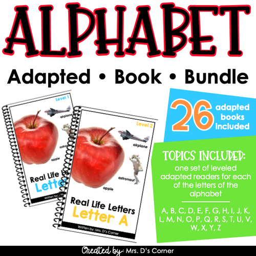 Real Life Letters - Alphabet Adapted Books Bundle [2 levels per]