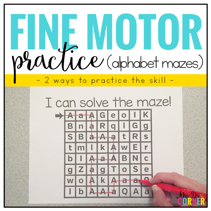 Fine Motor Skills Practice (Alphabet Mazes) | Distance Learning