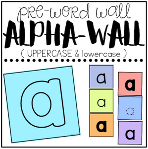 Alpha Word Wall ( Pre-Word Wall ) - For Young Learners