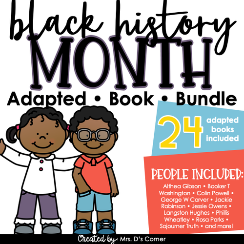 BUNDLE Black History Month Adapted Books [Level 1 and Level 2] 24 Books!