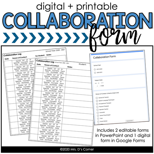 Editable Collaboration Form [Digital + Printable]