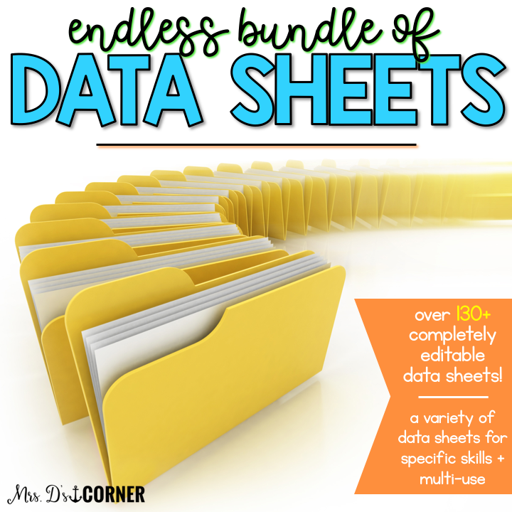 Endless Bundle of Data Sheets for Special Ed | Editable Data Sheets