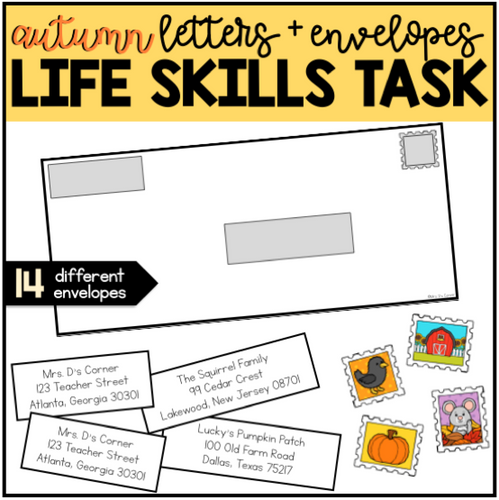 Addressing an Envelope Autumn Winter Bundle | Life Skills Center