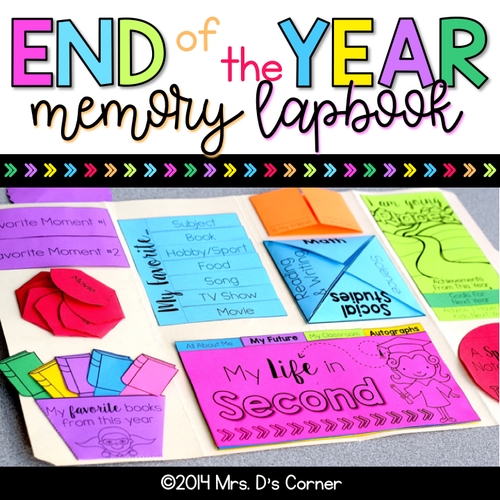 End of the Year Activity - Memory Book Lapbook [Grades K - 6]