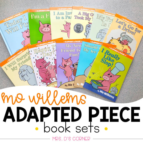 Elephant and Piggie Adapted Piece Book Set [25 book sets included!] Mo Willems