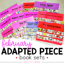 Load image into Gallery viewer, February Adapted Piece Book Set [ 12 book sets included! ]