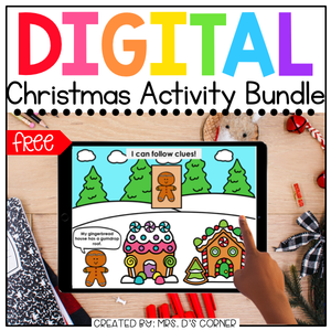 Gingerbread + Christmas Holiday Digital Activities