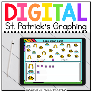 Saint Patrick's Day Graphing Digital Activity | Distance Learning