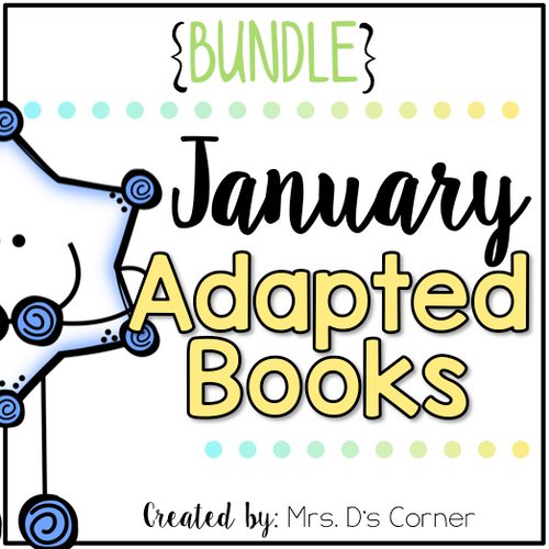 January Adapted Books [Level 1 and Level 2] | Digital + Printable Adapted Books