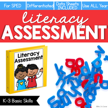 Load image into Gallery viewer, Literacy Assessment for K-3 Basic Skills (for Special Education)