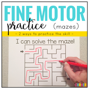 Fine Motor Skills Practice (Mazes) | Distance Learning