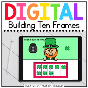Saint Patrick's Day Building Ten Frames Digital Activity | Distance Learning