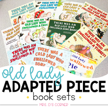 Load image into Gallery viewer, Old Lady Swallowed a... Adapted Piece Book Set Bundle | Lucille Colandro Bundle