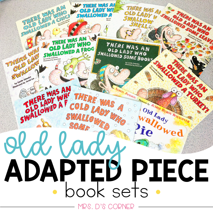 Old Lady Swallowed a... Adapted Piece Book Set Bundle | Lucille Colandro Bundle