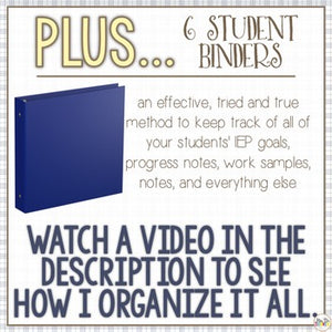 The Ultimate Special Education Binder | For the Boys [editable] IEP Binder