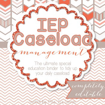 The Ultimate Special Education Binder | Chevron [editable] IEP Binder