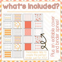 Load image into Gallery viewer, The Ultimate Special Education Binder | Chevron [editable] IEP Binder