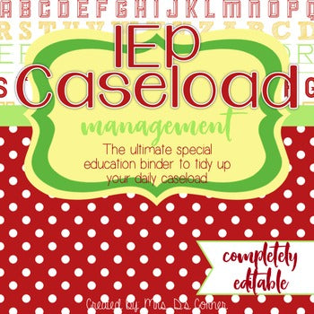 The Ultimate Special Education Binder | School Apples [editable] IEP Binder