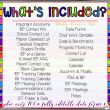 Load image into Gallery viewer, The Ultimate Special Education Binder | Rainbow [editable] IEP Binder