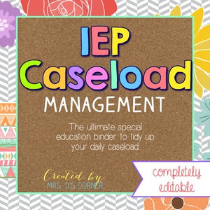 The Ultimate Special Education Binder | Tribal Herringbone [editable] IEP Binder