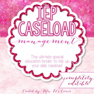 The Ultimate Special Education Binder | Pink Bokeh [editable] IEP Binder