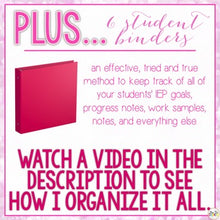 Load image into Gallery viewer, The Ultimate Special Education Binder | Pink Bokeh [editable] IEP Binder